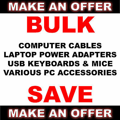 Bulk lot of PC Computer Parts Cables Power Adaptors Accessories Keyboards Mice