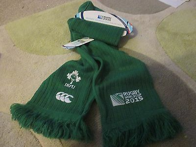 Official 2015 Rugby World Cup Ireland Scarf - Brand New