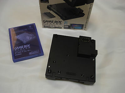 GameCube Game Boy Player Black Adapter Modified + Start Up Disc CD Boxed