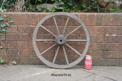 Vintage old wooden cart wagon wheel  / 50 cm FREE DELIVERY