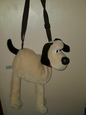 Wallace & Gromit large Gromit the Dog soft toy plush zip bag handbag straps