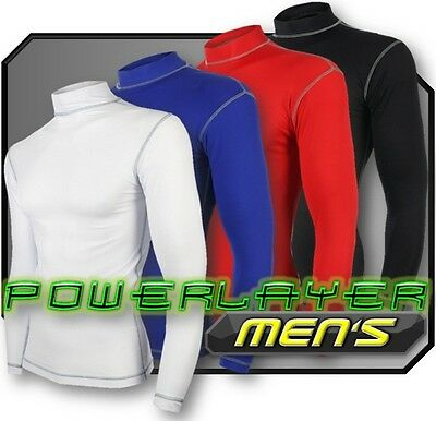 Men's PowerLayer Compression Baselayer Dry Under Shirt Top Long Sleeve Skin S-XL