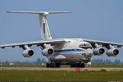 Ilyushin Il-76 Candid Commercial Airplane Handcrafted Wood Model Large New