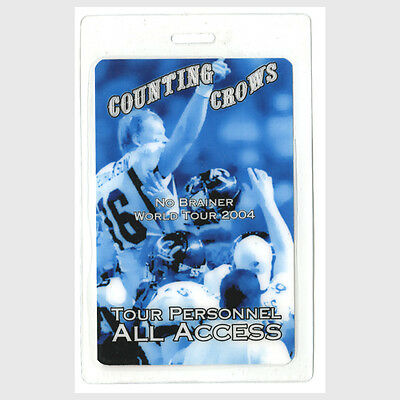 Counting Crows authentic 2004 concert tour Laminated Backstage Pass