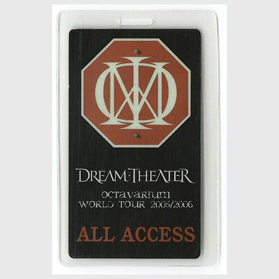 Dream Theater authentic 2005-2006 concert tour Laminated Backstage Pass