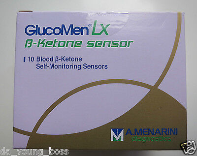 Glucomen LX B-Ketone Blood Diabetic Test Strips/Sensors **BRAND NEW & SEALED**