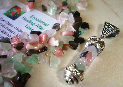 Tumbled Stones Crystals Pendant Talisman for Emotional Healing Relief Grief Loss