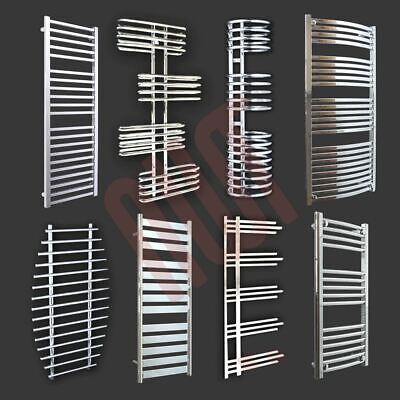 HUGE RANGE! Designer Heated Towel Rails Chrome Bathroom Towel Warmers Radiators
