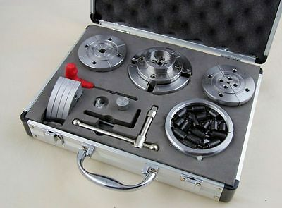 """4 Jaw Wood Lathe  Chuck Complete  Set 95 mm - M33  & 1 """" x 8 Threads  51059220A"""