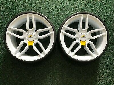 New Genuine Powakaddy Wheels X 2 White Fit All Models