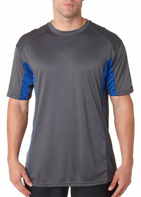 Badger Men's B Core Drive Short Sleeve Colorblocked Anti Microbial T-Shirt. 4147