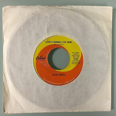 """7"""" Buck Owens - Love's Gonna Live Here (Usa 1963) Unplayed Shop Stock"""