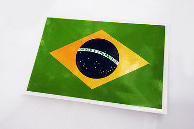 Brazil Brazilian Country Flag Car Bike Motorcycle Wall Poster Sign Sticker Decal