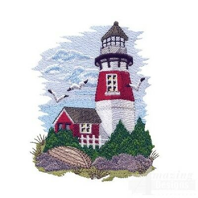 45 Scenic Lighthouse Designs for Machine Embroidery