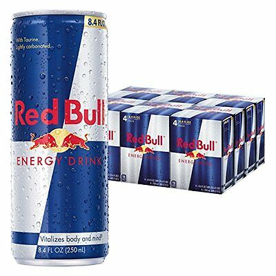 Red Bull Energy Drink 8.4 Fl Oz Cans 6 Packs of 4 Total 24 Cans