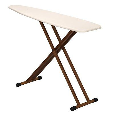 Ironing Board Household Essentials Fibertech Top W/ Bamboo Legs Natural Cover...