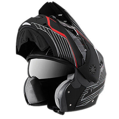 New Carberg Tourmax Black Matt Motorcycle Flip Up Helmet
