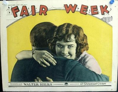 Silent Comedy Walter Hiers Fair Week Lot Of 5 Orig Paramount Pictures Lobbies