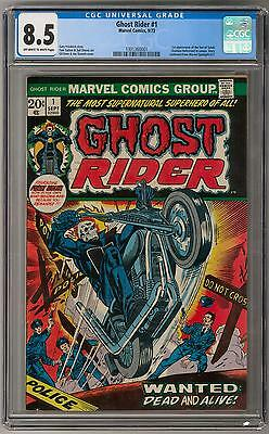 Ghost Rider #1 CGC 8.5 (OW-W) 1st Son of Satan (cameo) Appearance