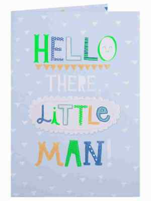 hello there little man birth congrats new baby boy card congratulations