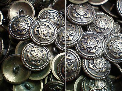 20mm 23mm Antique Brass Bronze Military Coat of Arms Metal Buttons M34-M35. X
