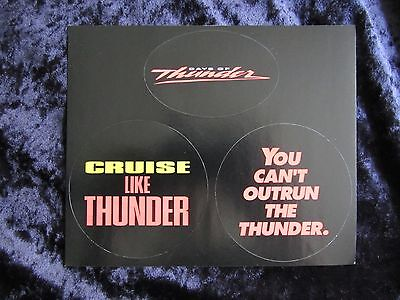Days Of Thunder promotional stickers - Tom Cruise