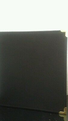 Samsill Classic Collection Executive Binders, 3 Ring Binder 1 Inch , Black