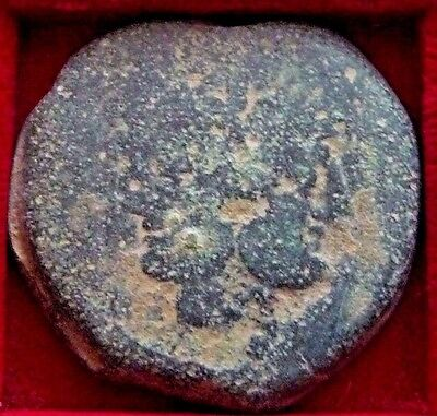 Roman Republic Anonymous AE As Janus heads - ship prow 32mm