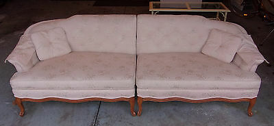 Vintage Mid Century Couch Sofa Light Pink
