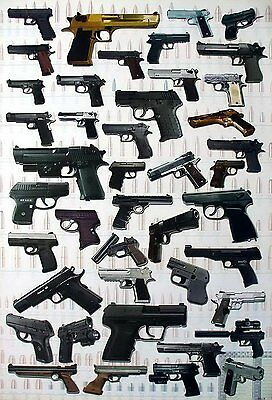 """GUNS CARBINE THE POSTER 24""""x36"""" COLLECTIBLE MANY MODEL NEW SHEET WALL 6712-M"""