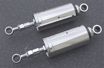 Ultima Chrome Adjustable Softail Style Shocks for Harley FXST 1984-1999