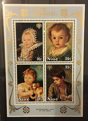 MINT pictorial stamp sheet - Niue 'Year of the Child' 1979