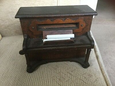 Vintage Wooden Piano Cigarette Dispenser