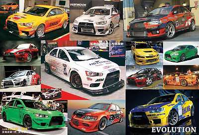 "EVOLUTION SPORT RACING CARS MANY MODEL THE POSTER 24""x36"" NEW SHEET WALL J-4013"