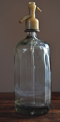 Vintage white glass siphon water soda