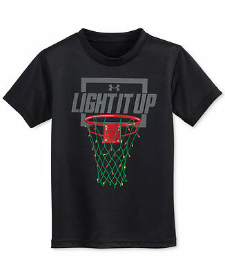 Under Armour Holiday Light it up Graphic-Print T-Shirt, Toddler Boys NWT SALE