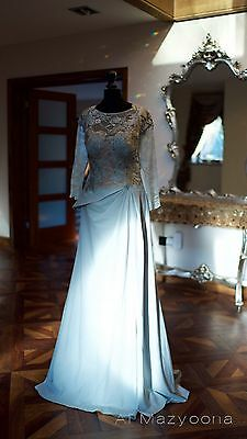 Al Mazyoona Haute Couture Luxury Evening Party Dress Dubai Arabic Kaftan Abaya