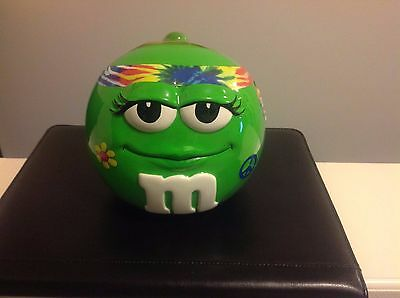 M&M's Sealed Porcelain GROOVY Candy Dish RARE Hard to Find L@@K THIS...