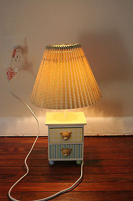 Carter's Just One Year Baby Lamp w/ 2 mini Drawers & Teddy Bear Handles Unisex
