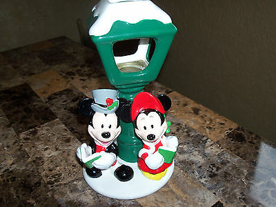 Disney Caroling Micky & Minnie Mouse Candle Holder