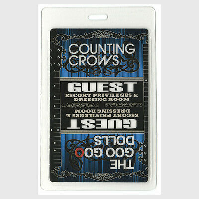 Counting Crows authentic 2008 concert tour Laminated Backstage Pass