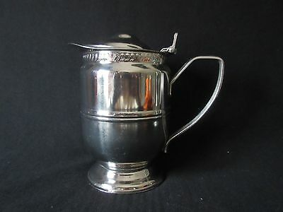 Vintage Chrome or Plated Insulated Pitcher Mid-Century Modern Patent Date 1951
