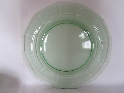 """Fostoria Fairfax 9 1/2"""" Green Luncheon Plates Set of 6 - for St. Patrick's Day!"""