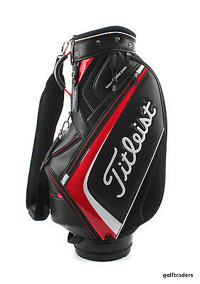 Titleist Golf Mid Size Staff Bag 5-Way Top - Black/red/white - New #d3445