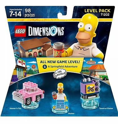 NEW Lego Dimensions Homer Simpson Level Pack 71202 FREE SHIPPING