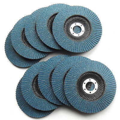 "10PC 125mm 5"" ZIRCONIA FLAP DISC WHEEL, For Angle Grinder Metal Grinding Sanding"