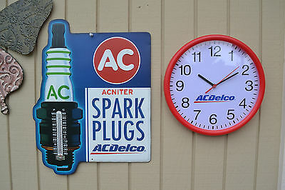 AC Delco Tin Sign w/Free AcDelco Clock *Still Shrink Wrapped*Collectible*Mancave