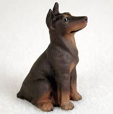 DOBERMAN PINSCHER (RED CROPPED) TINY ONES DOG Figurine Statue Pet Lovers Resin