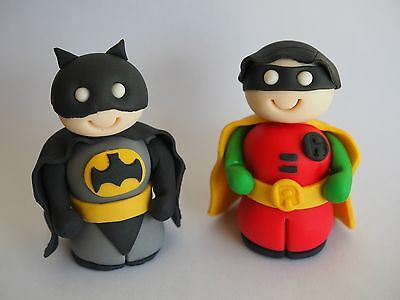 Batman, Robin and The Riddler 3D EDIBLE CAKE TOPPERS Superhero Kids Birthday