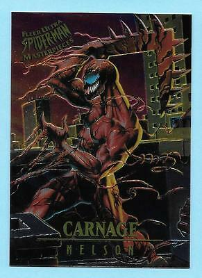CARNAGE FLEER ULTRA SPIDERMAN MASTERPIECES LIMITED EDITION #2 of 9 1995 NELSON